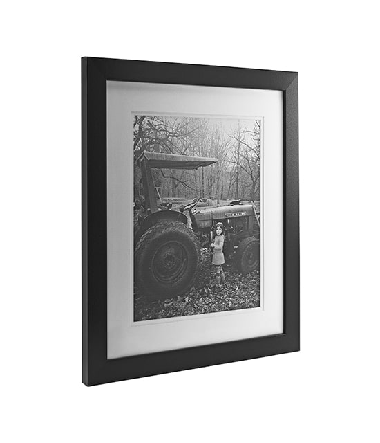 Black framed photograph with white matte