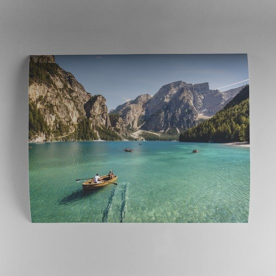 Unframed poster of outdoor photograph