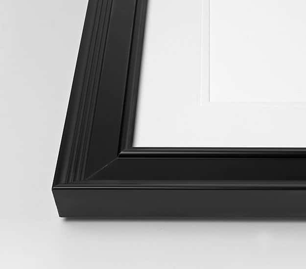 Classic black picture frame
